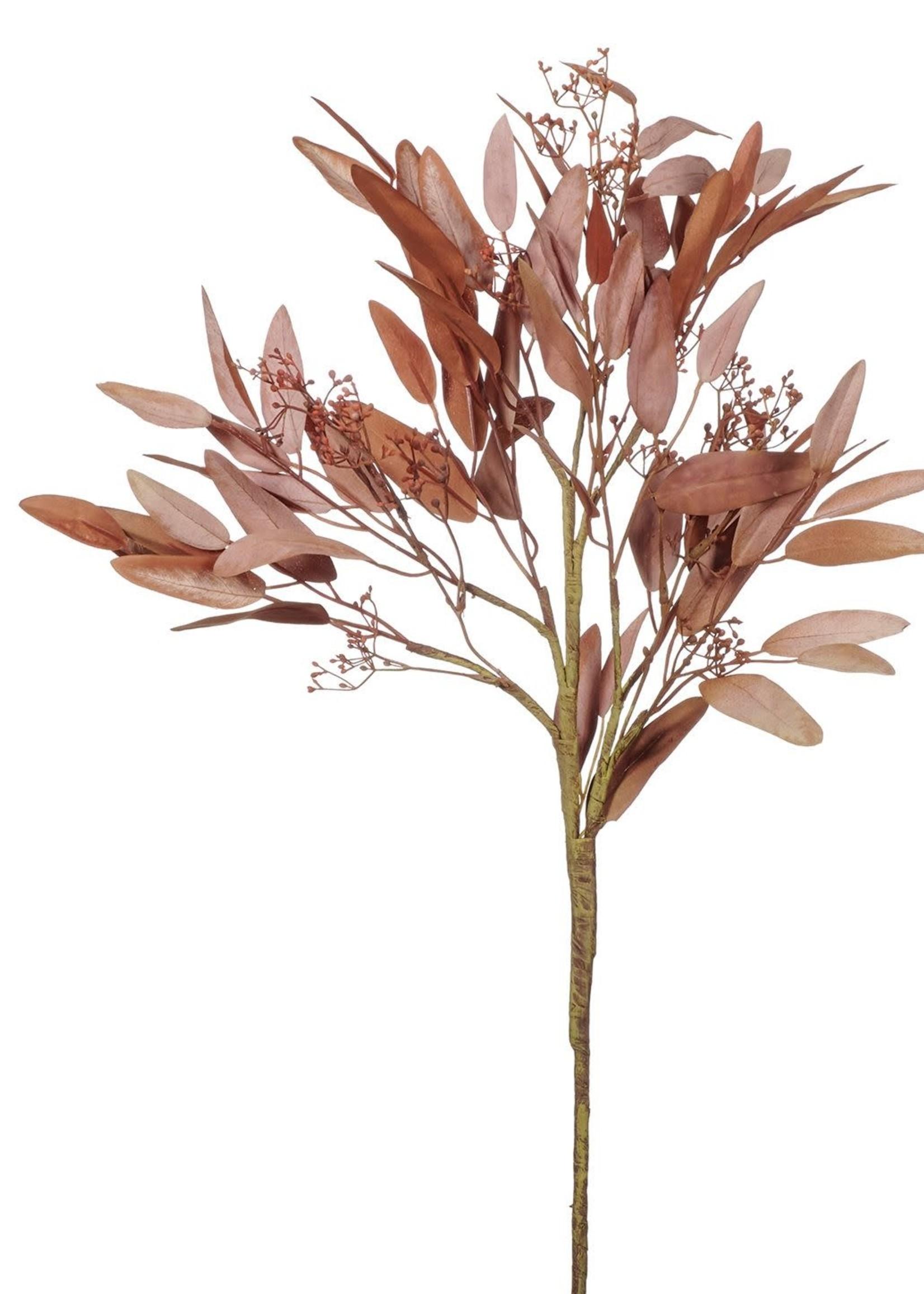 Goodwill Zijden bloemen EUCALYPTUS  100 cm ROZE/BRUIN