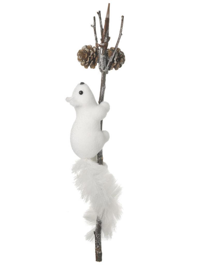 Heaven sends Witte eekhoorn op tak WIT