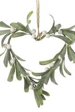 Heaven sends Mistletoe in vorm van een hart