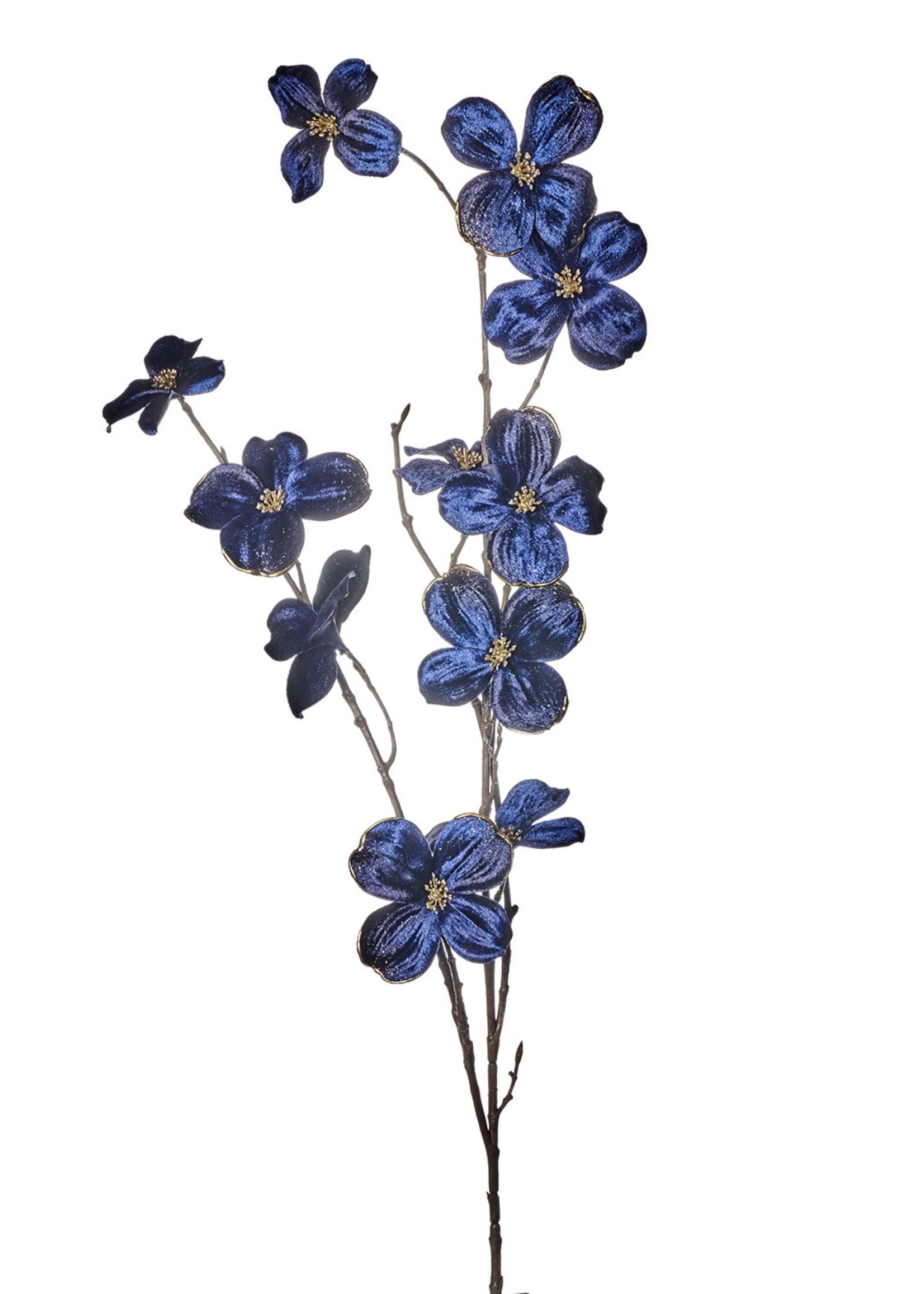Goodwill Zijden bloemen KORNOELJE blauw 99 cm
