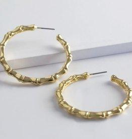 Lisa Angel Oorbellen BAMBOE ring goud