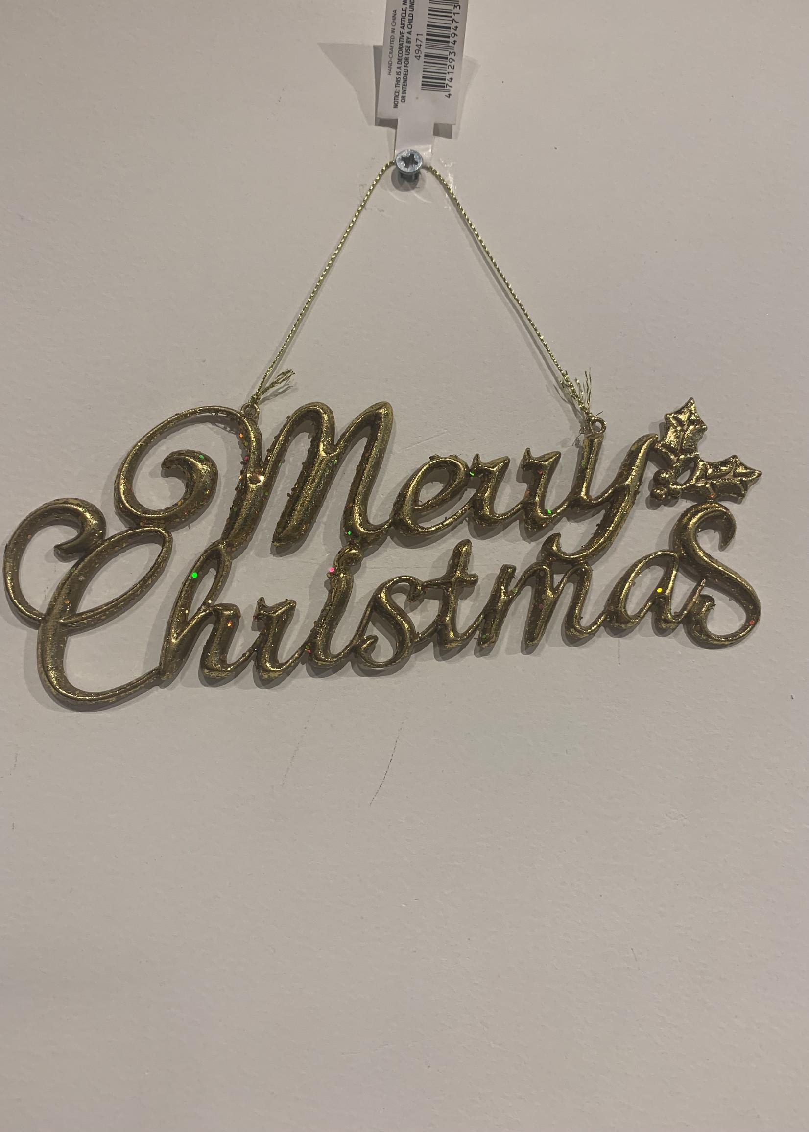ShiShi Hanger Merry Christmas goud 20 cm