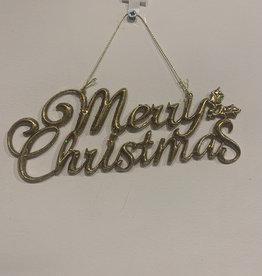 ShiShi Hanger Merry Christmas goud
