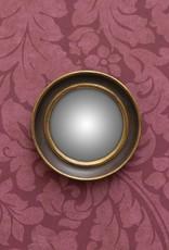 Chehoma Bolle spiegel 18 cm COGNAC GOUD