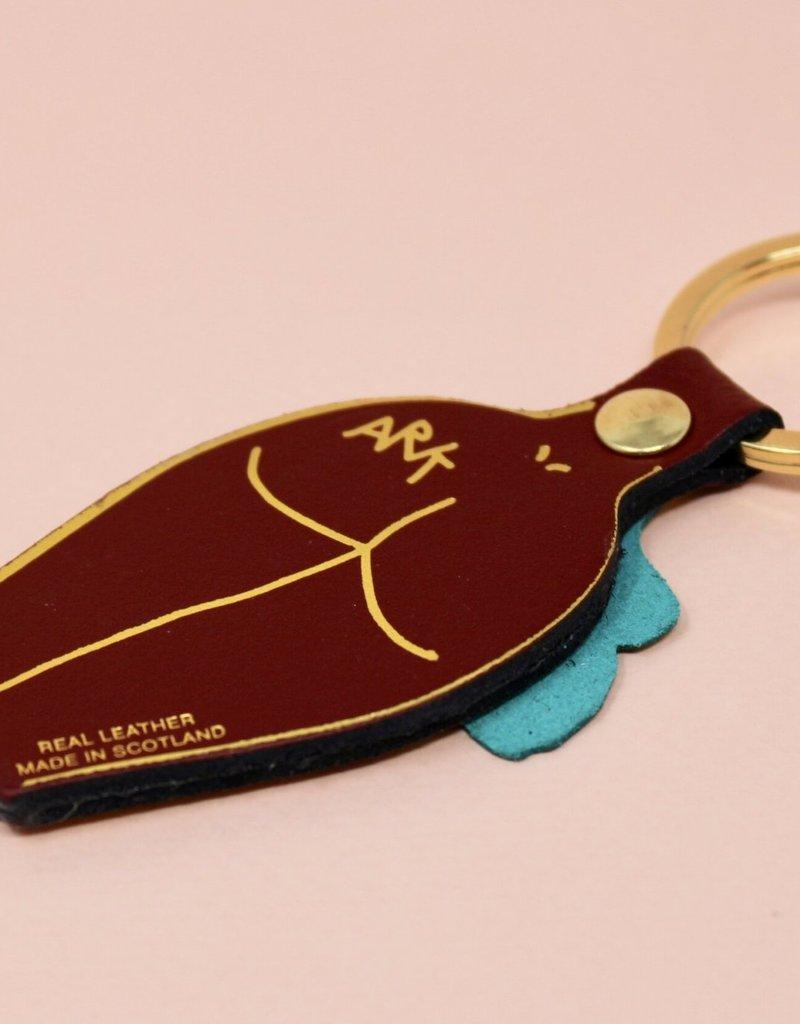 ARK colour design Sleutelhanger PEEPSHOW vrouw DONKER ROOD