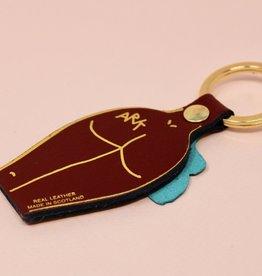 ARK colour design Sleutelhanger PEEPSHOW man DONKER ROOD