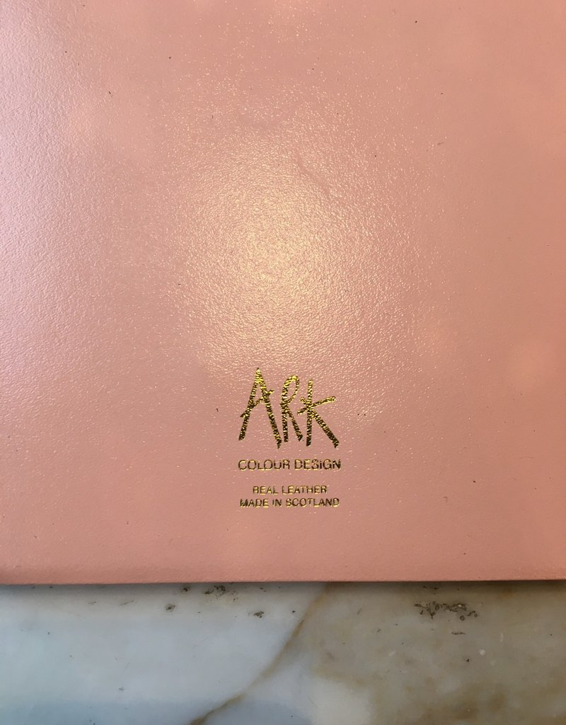 ARK colour design Notitie boek ADAM leer roze A5