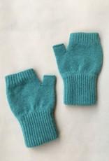 GreenGroveWeavers Handschoen KORT vingerloos  100% lamswol ZEEGROEN