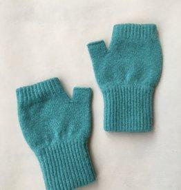 GreenGroveWeavers Handschoen KORT vingerloos ZEEGROEN