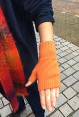 GreenGroveWeavers Handschoen KORT vingerloos  100% lamswol ORANJE