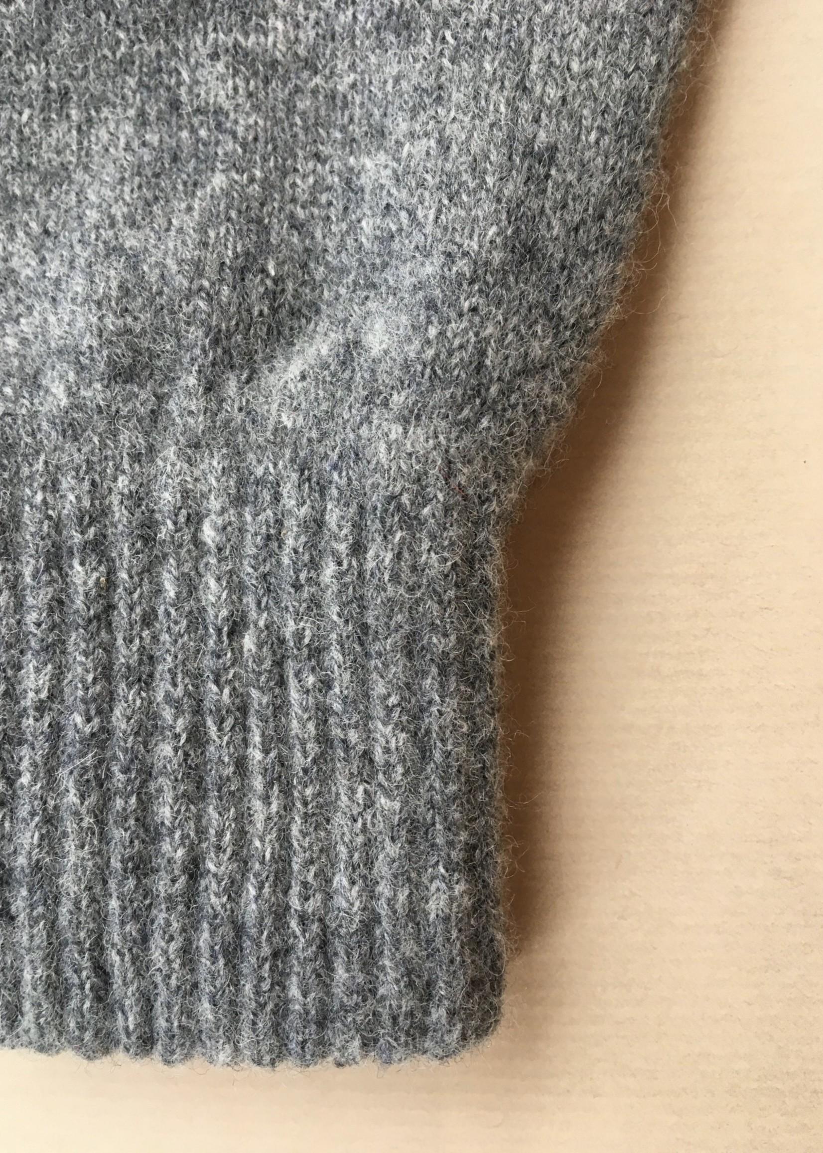 GreenGroveWeavers Handschoen KORT vingerloos  100% lamswol LICHT GRIJS