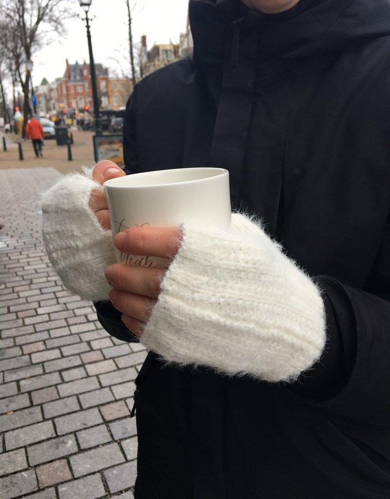 Lisa Angel Handschoen vingerloos WIT