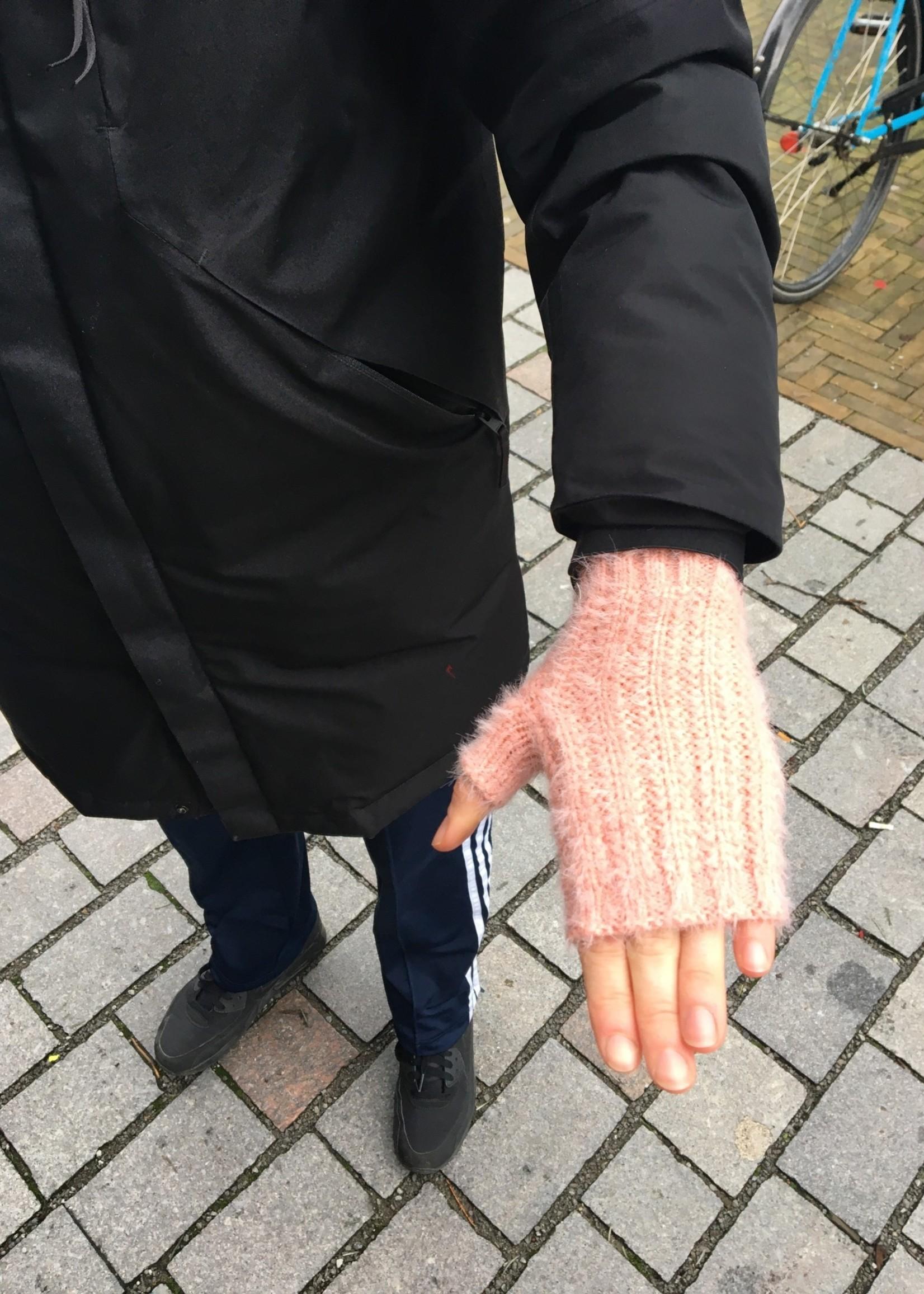Lisa Angel Handschoen vingerloos  ROZE