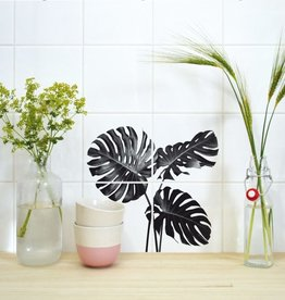 Boubouki Tegelsticker MONSTERA set van 4