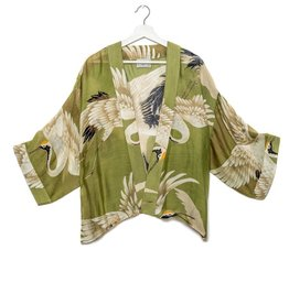 One hundred Stars Korte Kimono OOIEVAAR groen