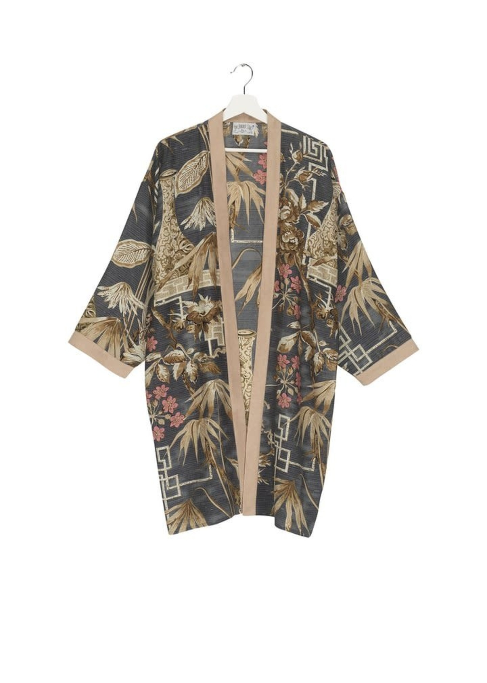 One hundred Stars Kimono BAMBOO teal