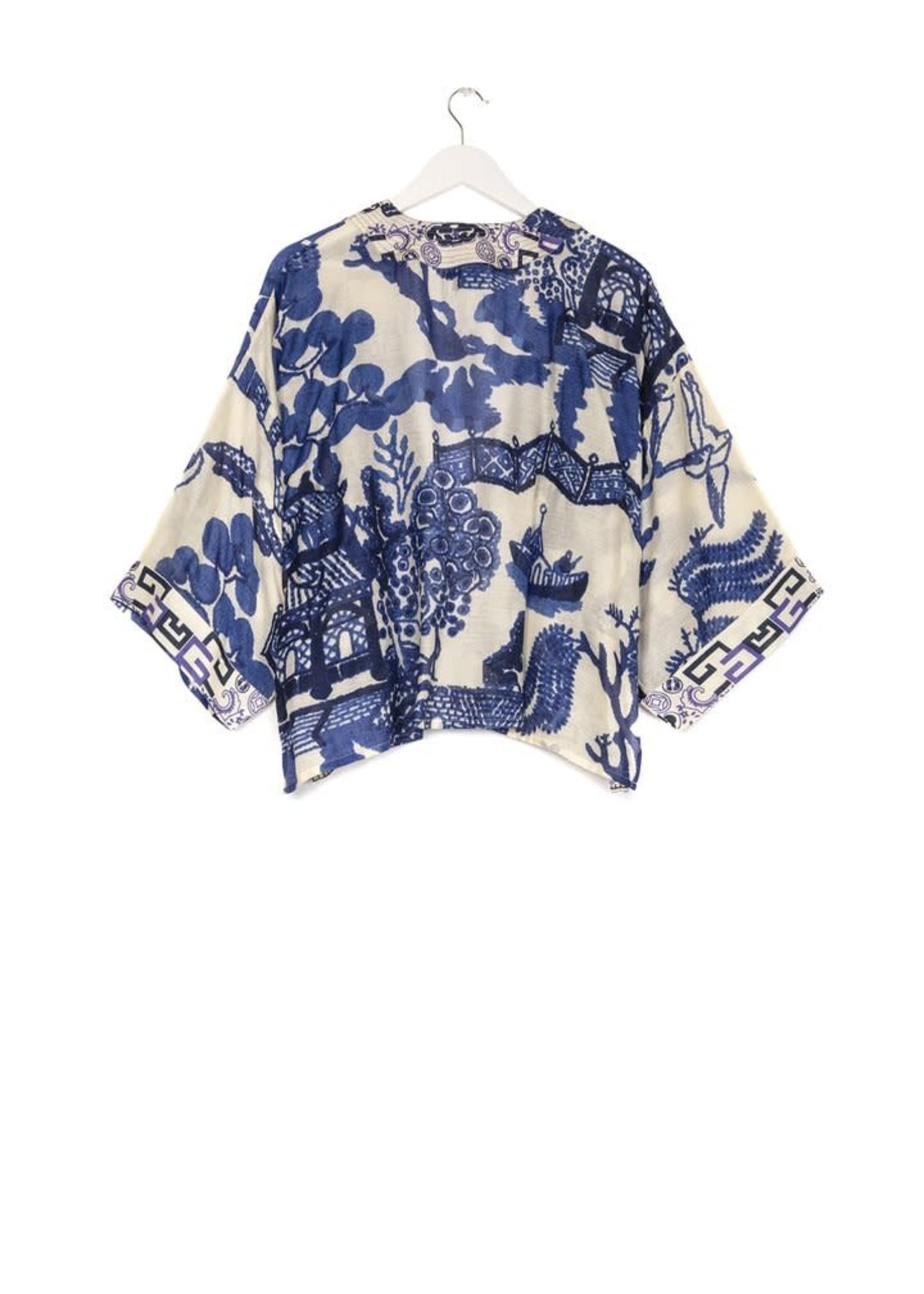 One hundred Stars Korte Kimono GIANT WILLOW blauw