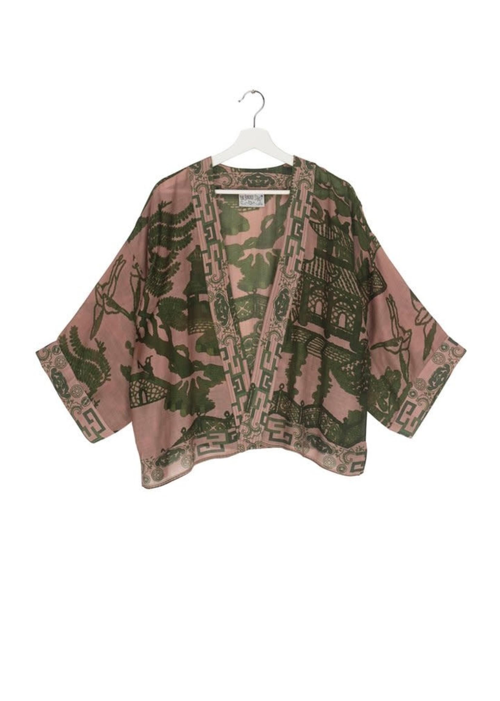 One hundred Stars Korte Kimono GIANT WILLOW groen