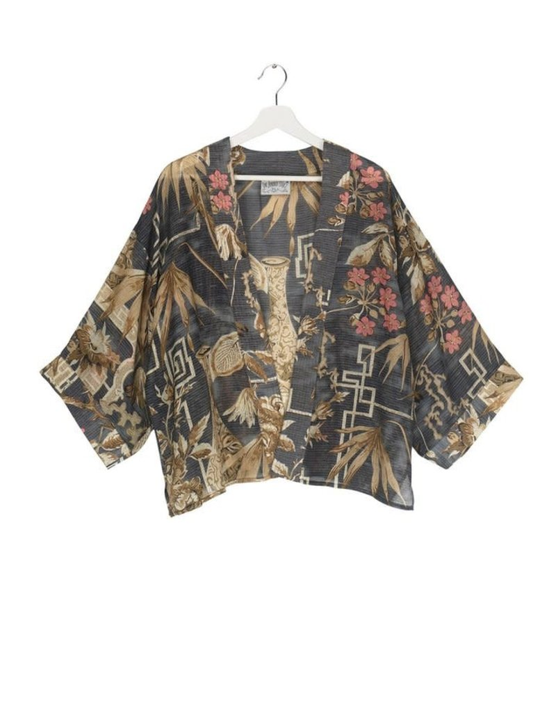One hundred Stars Korte Kimono BAMBOO teal