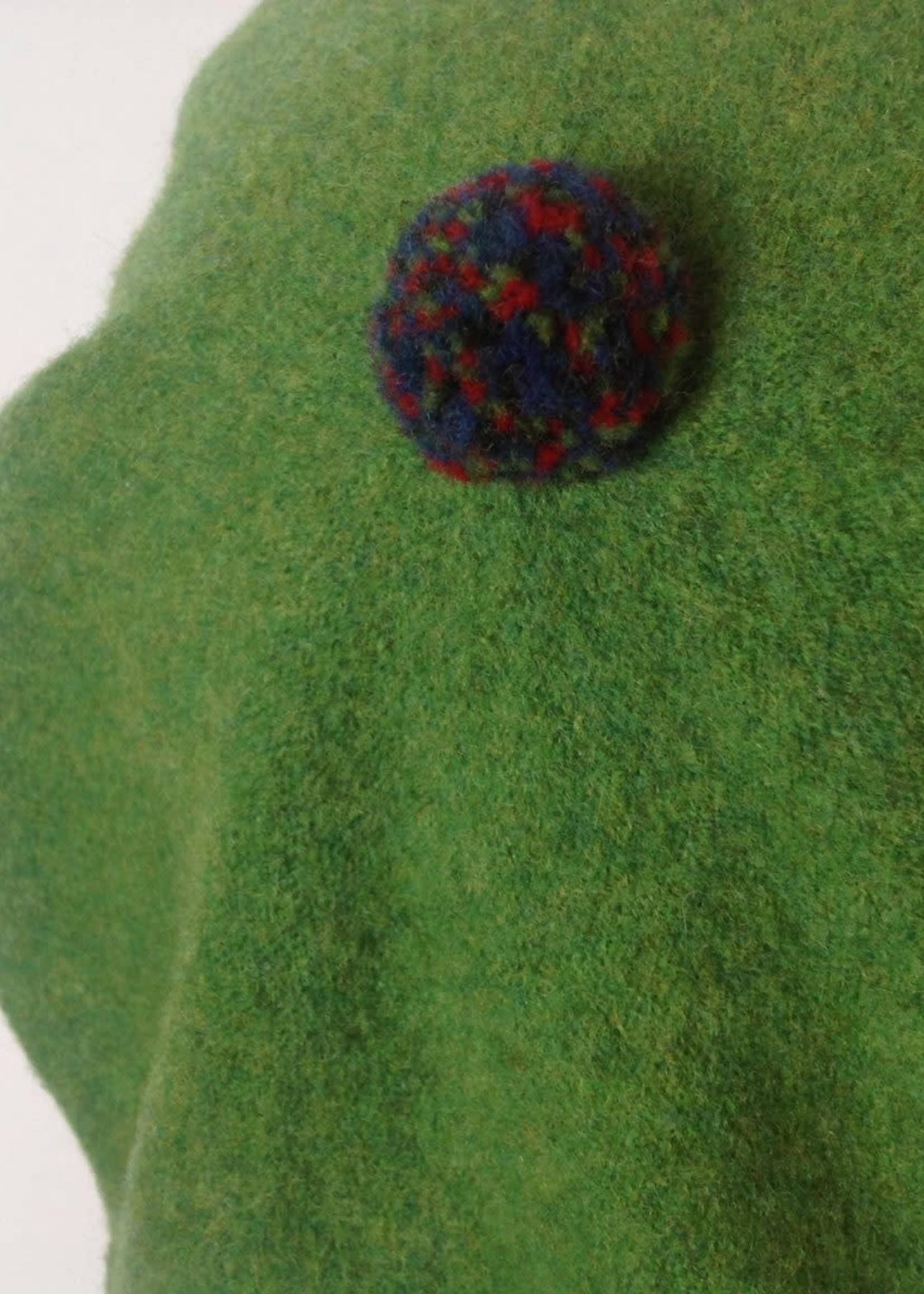 GreenGroveWeavers Baret 100% lamswol GROEN