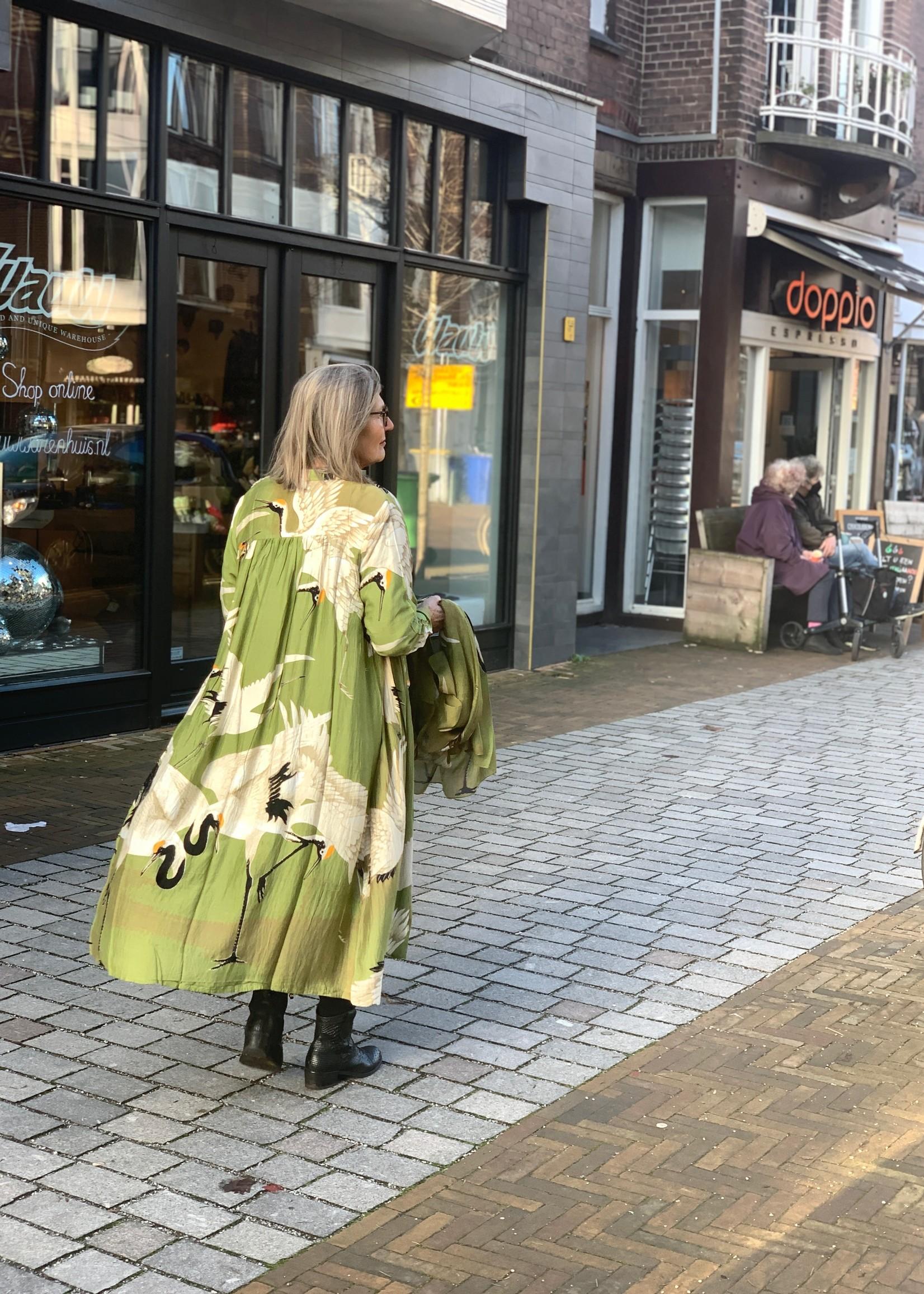 One hundred Stars Duster coat OOIEVAAR groen