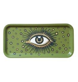 Les Ottomans Dienblad oog GROEN hout