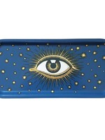 Les Ottomans Dienblad oog  BLAUW hout