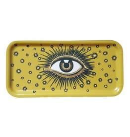 Les Ottomans Dienblad oog GEEL hout