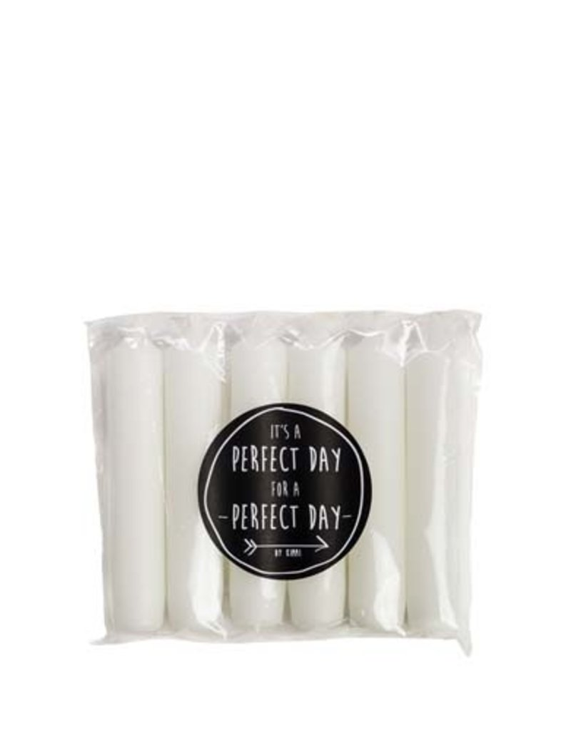 Rustik Lys Pakje van 6 kaarsjes 2x12 cm Wit