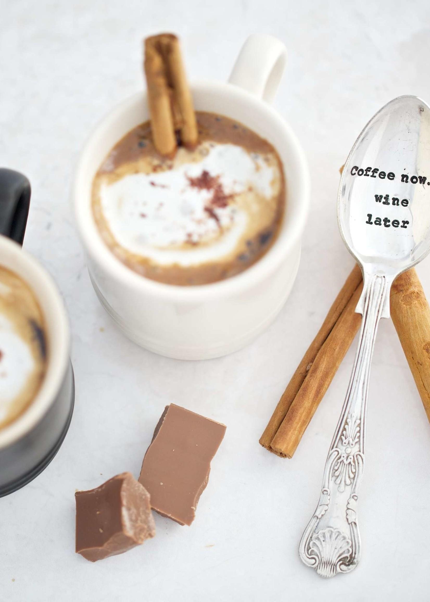 LA DE DA! Thee lepeltje COFFE NOW WINE LATER