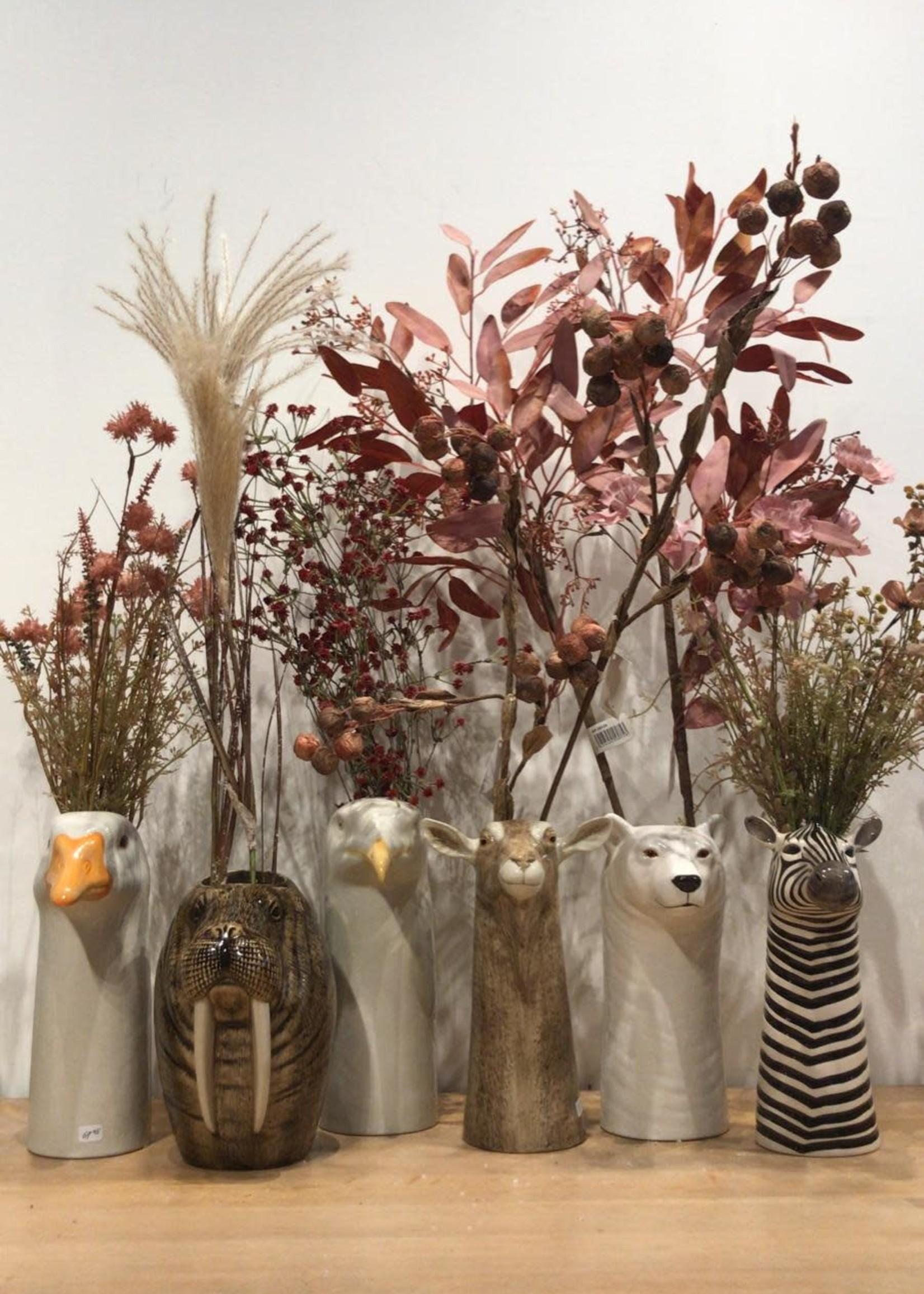 Goodwill Zijden bloemen GRAS sprieten met PLUIMEN 114 cm