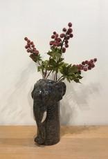 Wauw Zijden bloemen CASTOR OIL burgundy tak 66cm