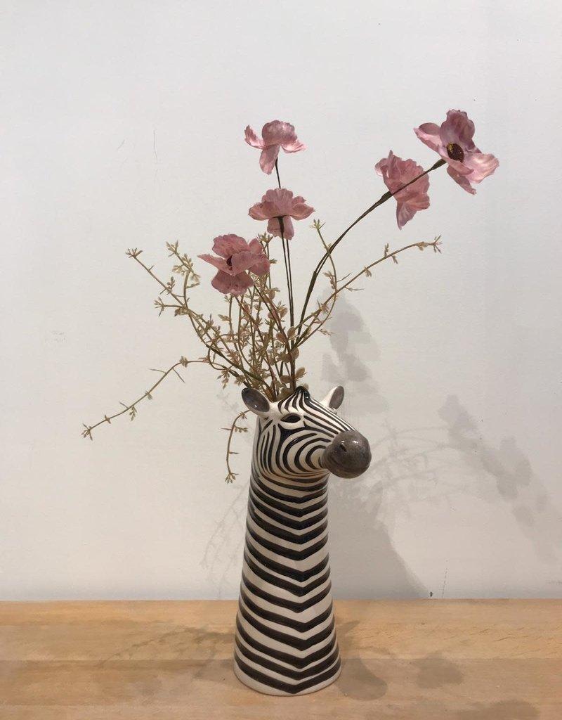MICA Zijden bloemen DROOG boeket KLAPROOS roze