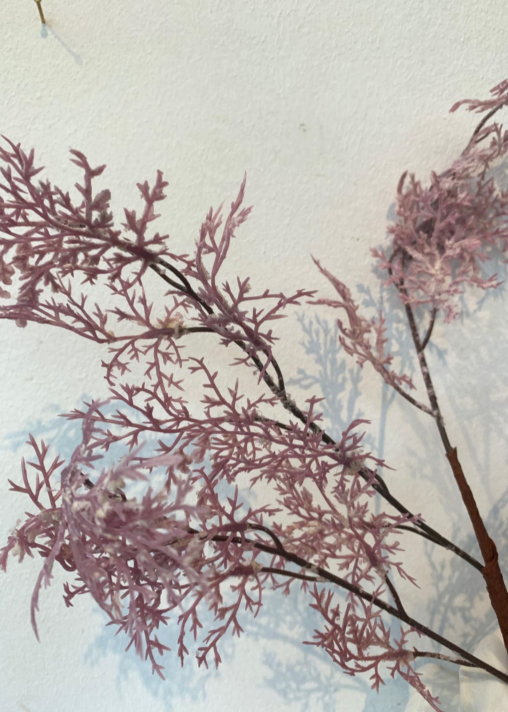 MICA Zijden bloemen DROOG boeket CEDER roze