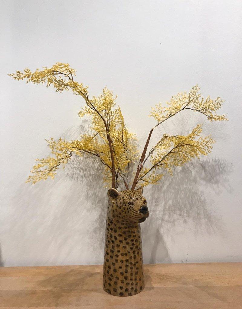 MICA Zijden bloemen DROOG boeket CEDER geel