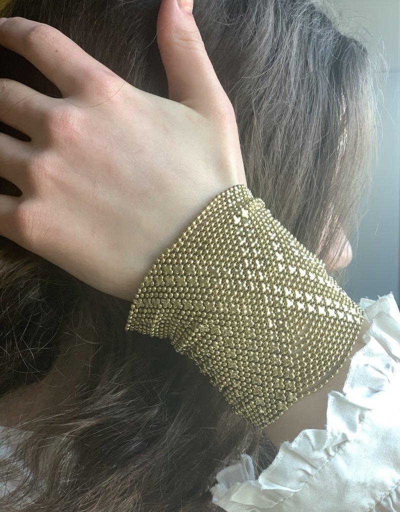 Mondo E Colori Armband 8 cm hoog matje GOUD