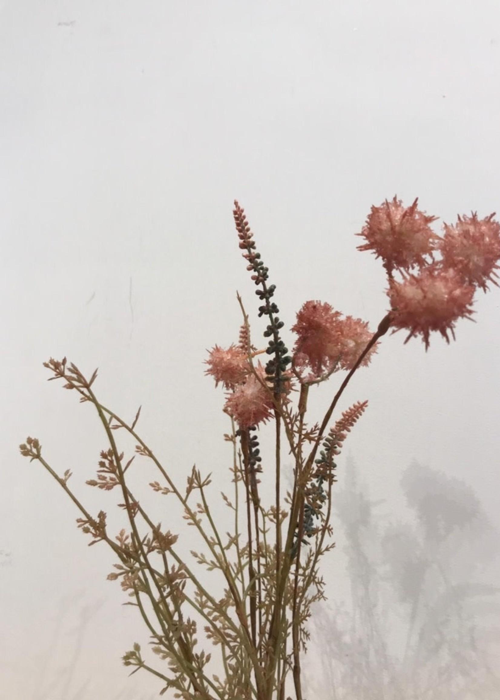 MICA Zijden bloemen DROOG boeket POMPOM