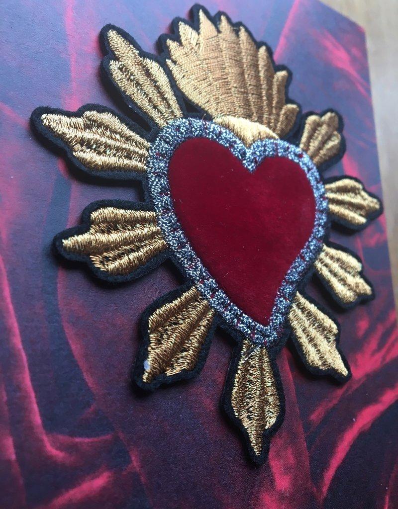 Bazartherapy Kaart met GEBORDUURDE hart