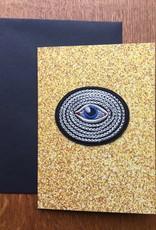 Bazartherapy Kaart met GEBORDUURDE oog