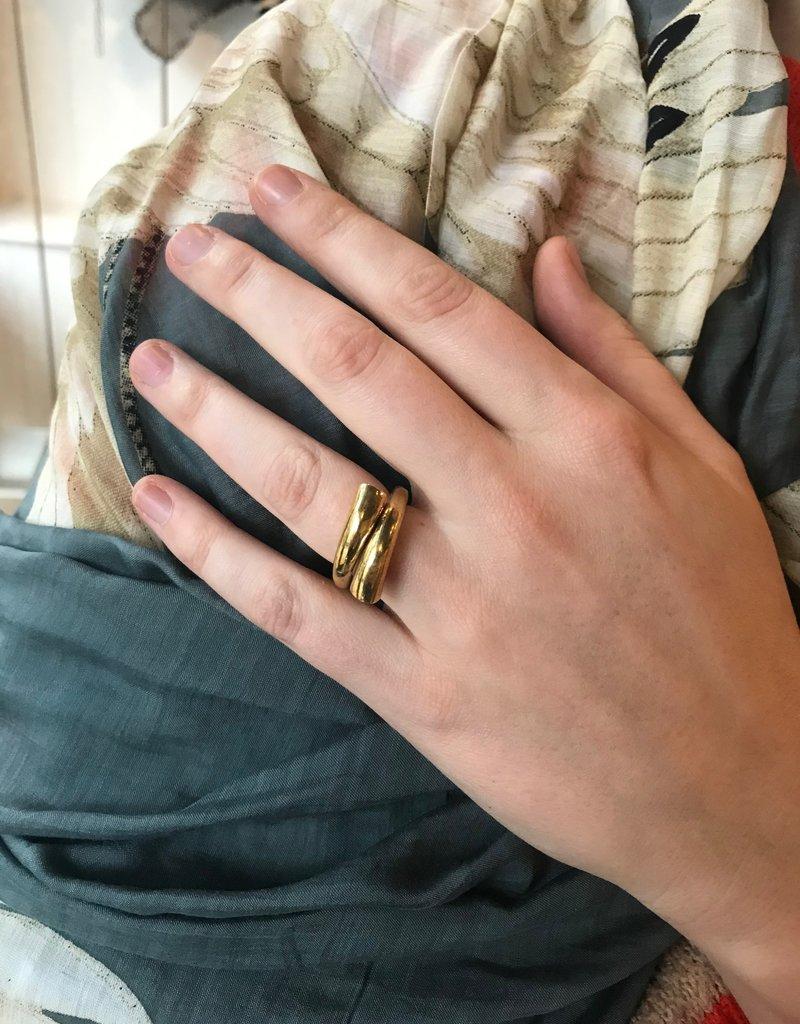 Mondo E Colori Ring draai goud maat 19