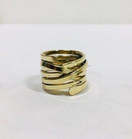 Mondo E Colori Ring gedraaid goud