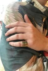 Mondo E Colori Ring gedraaid goud maat 17