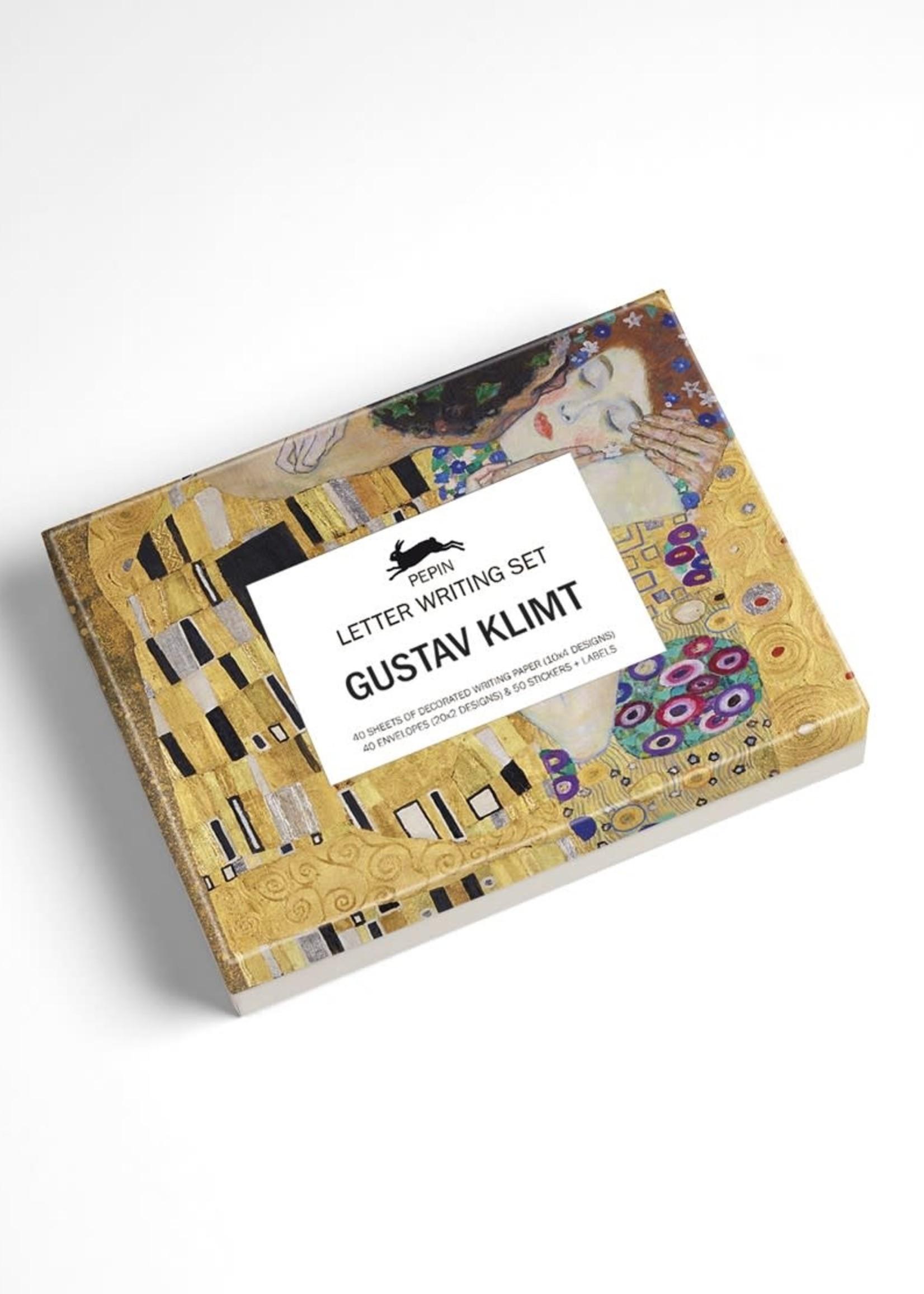 Pepin Press Schrijfset briefpapier en enveloppen GUSTAV KLIMT