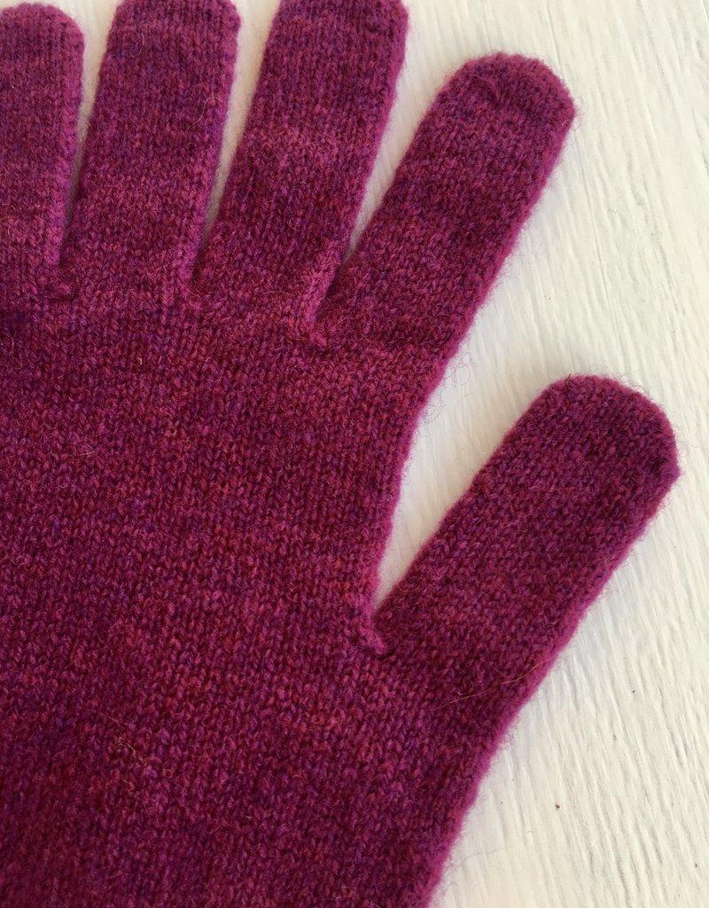 GreenGroveWeavers Handschoen 100% lamswol LANG paars