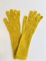 GreenGroveWeavers Handschoen lamswol LANG geel