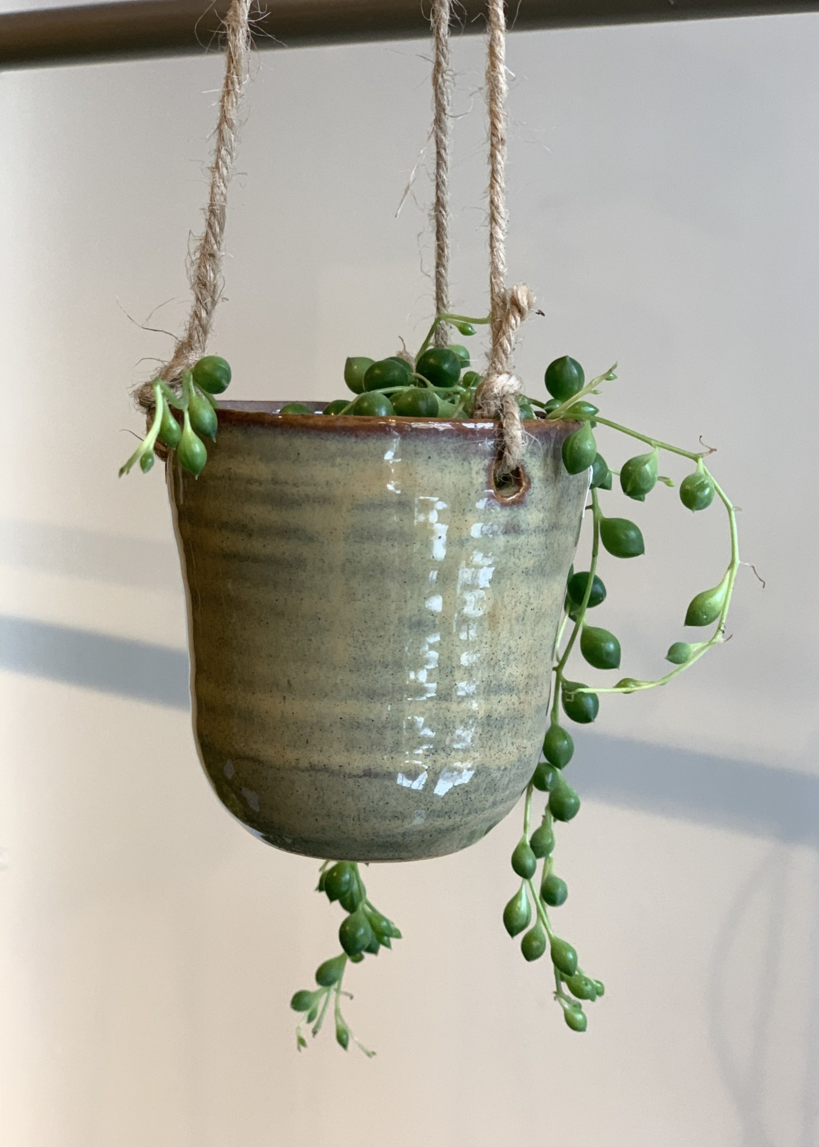 MICA Plant pot mini hang TAUPE