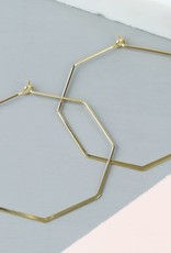 Lisa Angel Oorbellen achthoek Goud