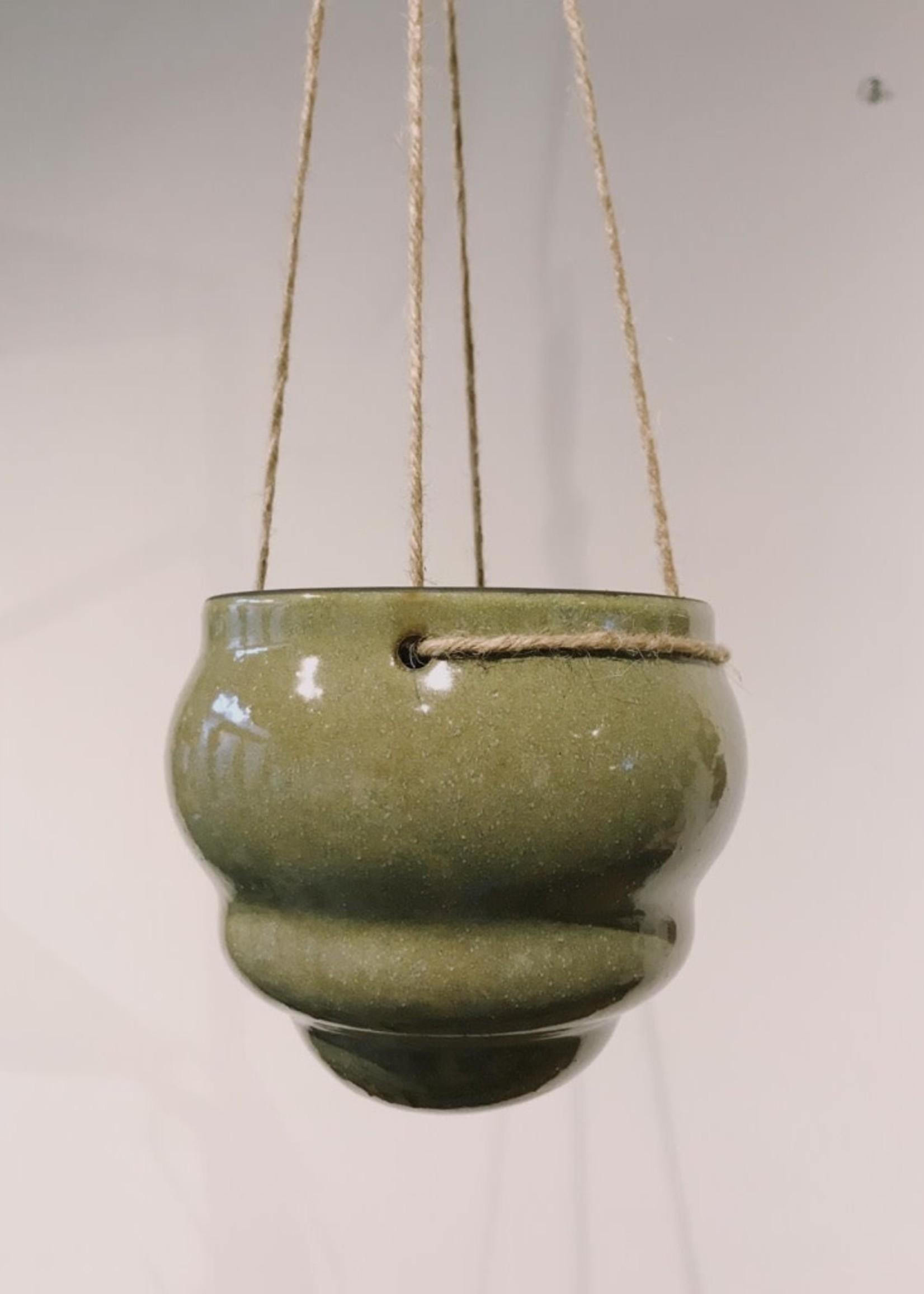 Wauw Plant pot hang bubbel GROEN 14cm