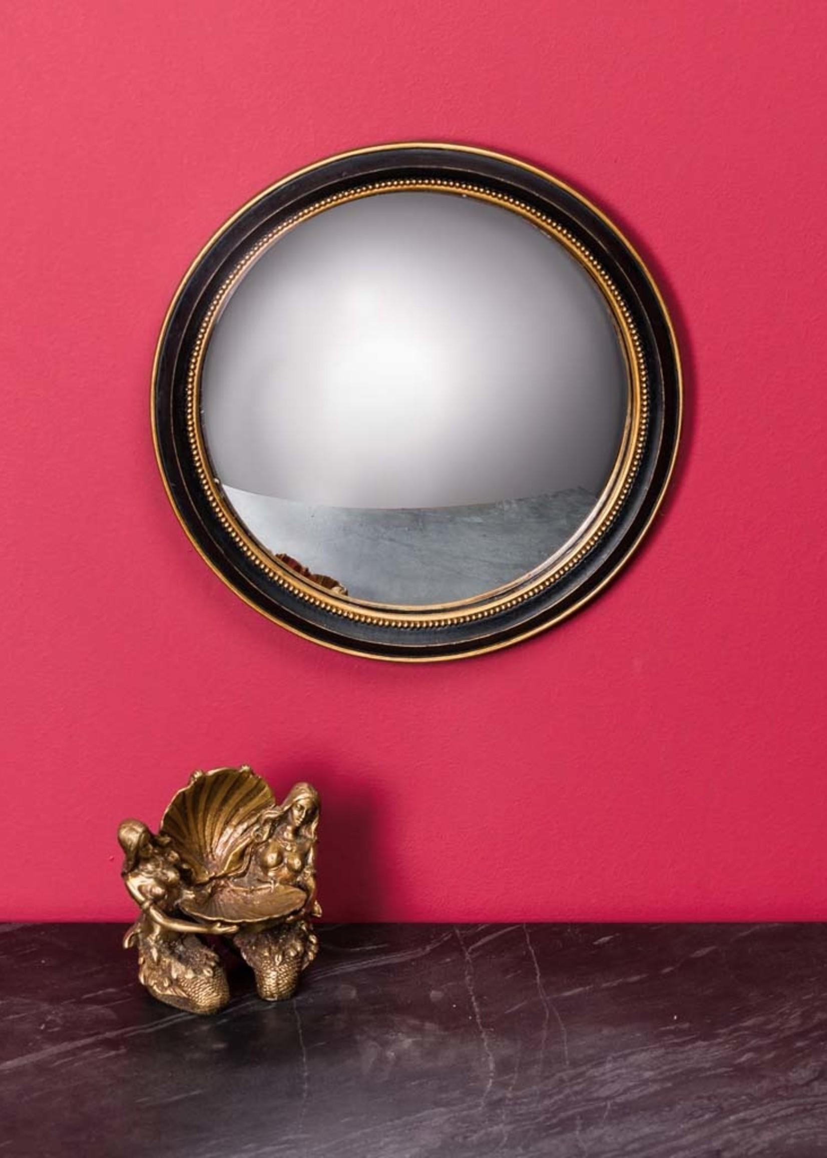Chehoma Bolle spiegel 27 cm ZWART GOUD