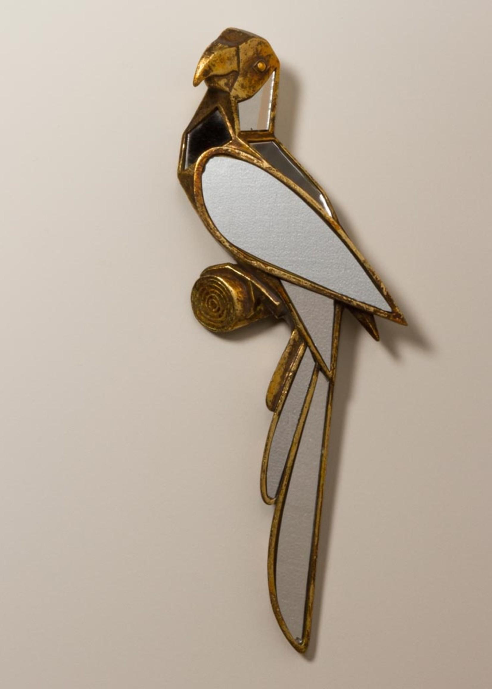 Chehoma Wanddecoratie PAPEGAAI met spiegels